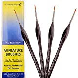 Fine Tip Detail Paint Brushes. Miniature Brushes