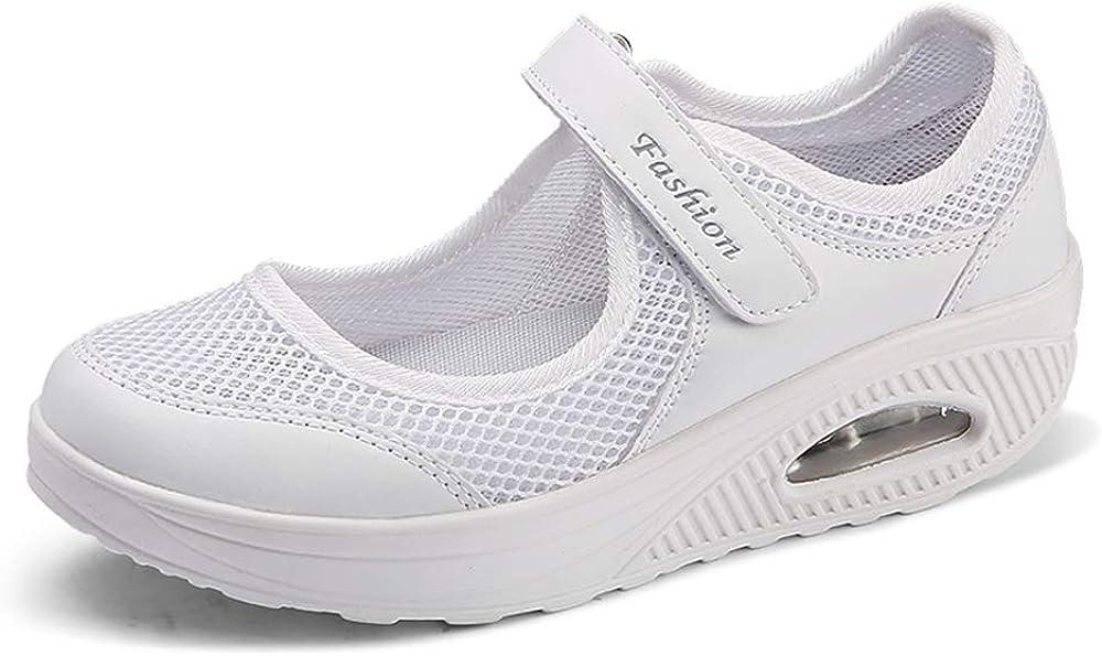 Moda Mujeres Tejida Talla 35-42 Cómodos Zapatos para Caminar ...