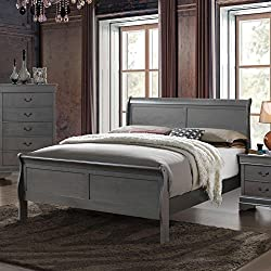 Furniture of America Mayday II Paneled Grey Sleigh Bed Queen