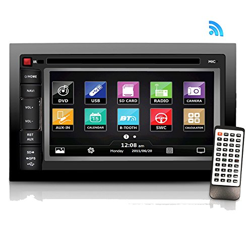 Premium Pyle 6.5″-Inch Double-DIN – Car Stereo Receiver with Bluetooth, Dash Touchscreen Screen, TFT/LCD Monitor, CD/DVD Player, Disc /MP3/MP4/USB /SD/AM/FM (NO Navigation Disc Included) (PLDNV66B)