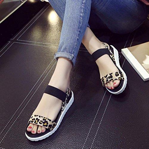 Vovotrade Cuir Mode Sandales à Chaussures Marron la Plates Femme Sandales en élégantes rqwxFT1ra