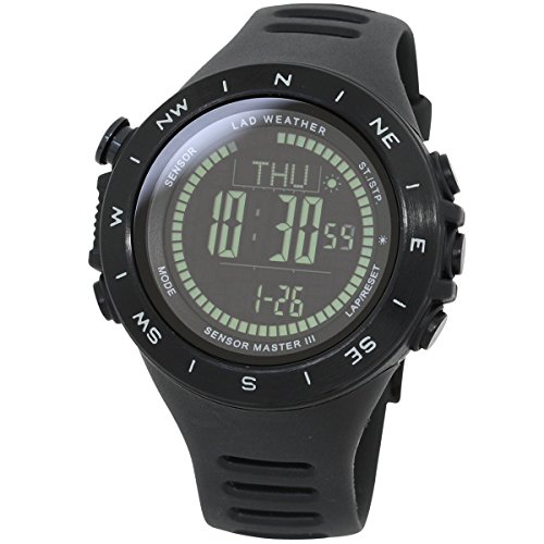 LAD-WEATHER-100-Meters-water-resistant-Altimeter-Barometer-Storm-alert-Step-counter-Calorie-Mountain-data-Unisex-watch