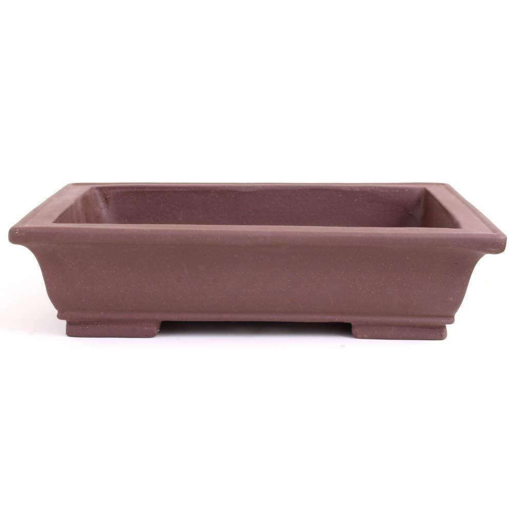 Bonsai 40139 - Ciotola Quadrata Non Verniciata, 35 x 25 x 9 cm, colore  Marronee