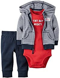 Carter's Baby Boys 3-Piece Dog Hoodie Set