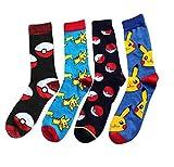 Mens Cotton-Blend Pokemon Dress Socks Wedding Groomsmen Socks Size 8-13 MultiPack
