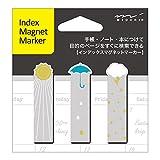 Midori Magnet Index Marker, Weather Symbols
