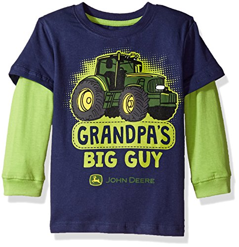 - John Deere Baby Boys' 2 for Tee-Blue, 4T