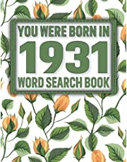 Born In 1931: Word Search Book: Puzzles Book for All-Word Search Books