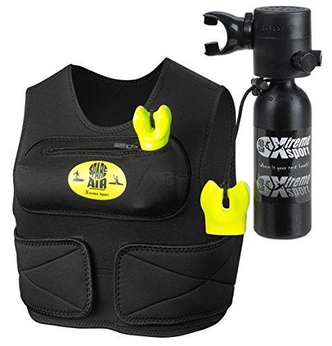 (Spare Air Submersible Emergency Air Supply Package Set Scuba Diving Tank (1.7 Cu Ft with Vest - Black Package) )
