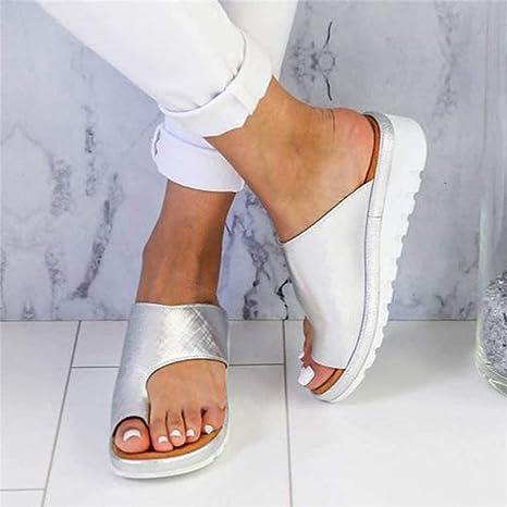 ONEYMM Sandalias de Plataforma para Mujer Zapatos Romanas Verano Playa Viajes Zapatillas Reducen El Dolor De Juanetes Respirable: Amazon.es: Deportes y aire libre