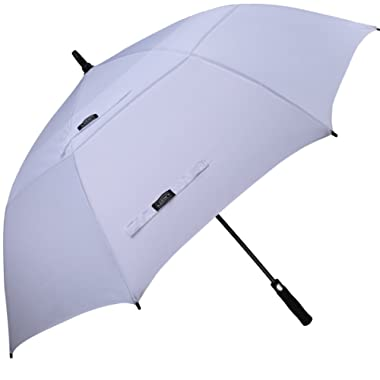 G4Free 62/68 Inch Automatic Open Golf Umbrella Extra Large Oversize Double Canopy Vented Windproof Waterproof Stick Umbrellas