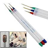 Acrylic Striping UV Gel Pen 3 Pcs Nail Art Brushs Drawing Painting Set