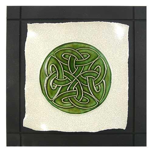 Cross Ceramic Celtic - Celtic Lover's Knot / Eternity Knot Ceramic Tile Wall Hanging, 7.5
