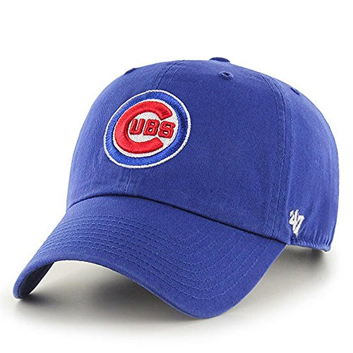 ('47 Brand Chicago Cubs Clean Up MLB Dad Hat Cap Royal)