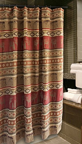 Carstens Adirondack Shower Curtain (Chenille Curtain Fabric)