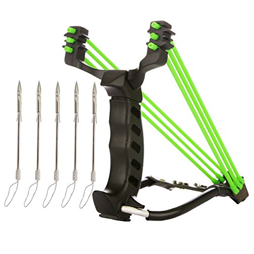 MoreFarther Professional Slingbow Spears Arrow Set for Hunting & Fishing