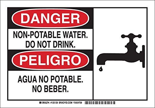 Brady 125129 Bilingual Sign, Legend