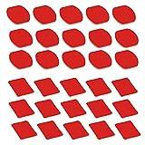 D&F Double Side Helmet Adhesive Sticker 15 Flat+ 15 Curved Pads for GoPro Hero 7/6/5/4/3+/3 SJCAM Helmet Kit Accessories(30Pcs)