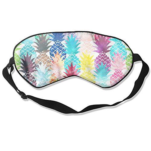 Sleeping Eye Mask Watercolor Pineapple Natural Silk Eye Mask Cover With Adjustable - Eye Sunglasses Golden
