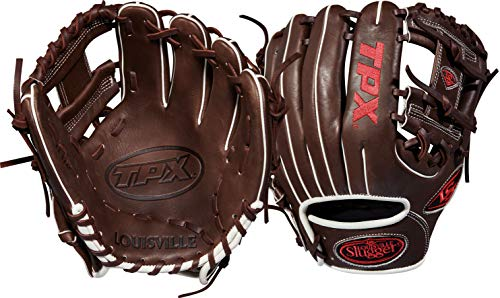 Louisville Slugger 2018 Tpx Infield Baseball Glove - Right Hand Throw Dark Brown/White/Red, 11.25