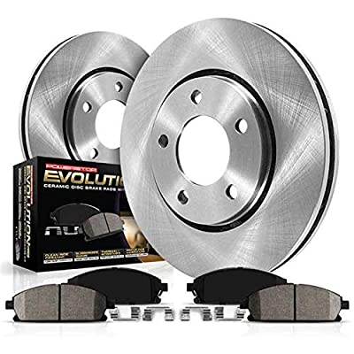 Power Stop KOE5334 Autospecialty By Power Stop 1-Click Daily Driver Brake Kits Front Incl. 12.6 in. OE Replacement Rotors w/Z16 Ceramic Scorched Brake Pads Autospecialty By Power Stop 1-Click Daily Driver Brake Kits: Automotive