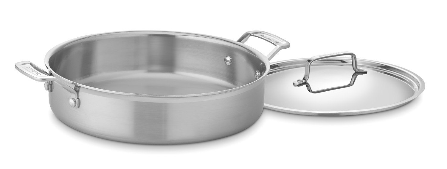 Cuisinart MCP55-30N MultiClad Pro Stainless 5-1/2-Quart Casserole with Cover by Cuisinart