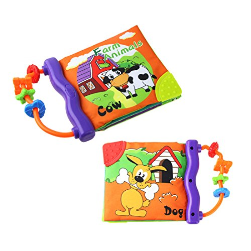 Baby Frist Word Book,Soft Cloth Cognition Book Learning and