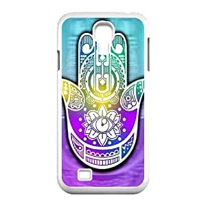 wugdiy Personalized Durable Case Cover for SamSung Galaxy S4 I9500 with Brand New Design Colorful Hamsa Hand