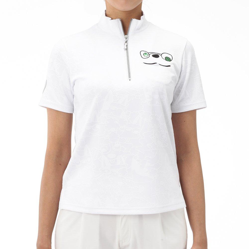 MU SPORTS(エム ユースポーツ) 701W1406 ハーフジップ半袖シャツ ホワイト 42サイズ 701W1406 MU SPORTSは高感度でハイクオリティ、そのまま街へ出かけたくなる、そんなスタイルを提案します。   B079YTDC9Y