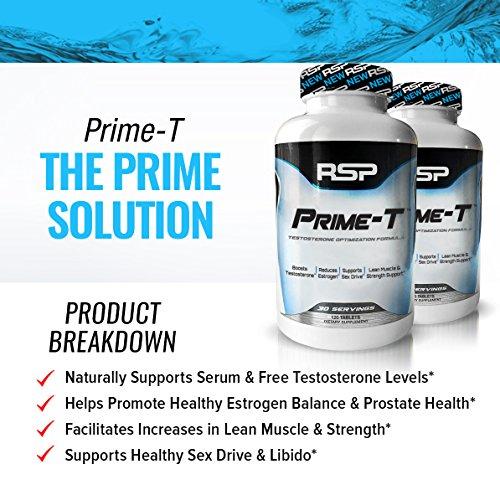 اسعار RSP Testosterone Booster for Men, Prime T Natural Test Booster Pills, Increase Free Testosterone, Lean Muscle Growth, Strength, Stamina & Healthy Sleep, Scientifically Proven Ingredients, 30 Servings