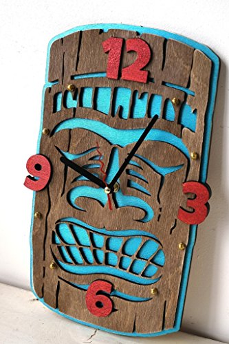 Tiki Handcrafted wooden Wall Clock by WOODANDROOT