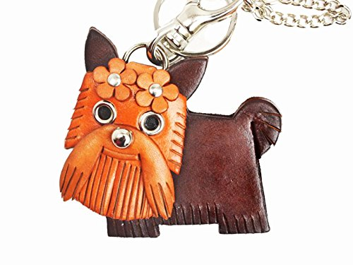Yorkshire Terrier/Yorkie Genuiine Leather Animal/Dog Bag Charm/KeychainVANCA Handmade in Japan