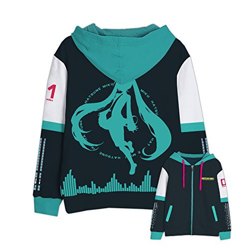 Price comparison product image Harry Shops Halloween Holiday Hatsune Miku Hoodie Cosplay Costume-Medium