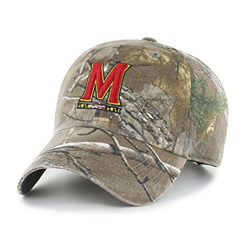 NCAA Maryland Terrapins Realtree OTS Challenger Adjustable Hat, Realtree Camo, One Size
