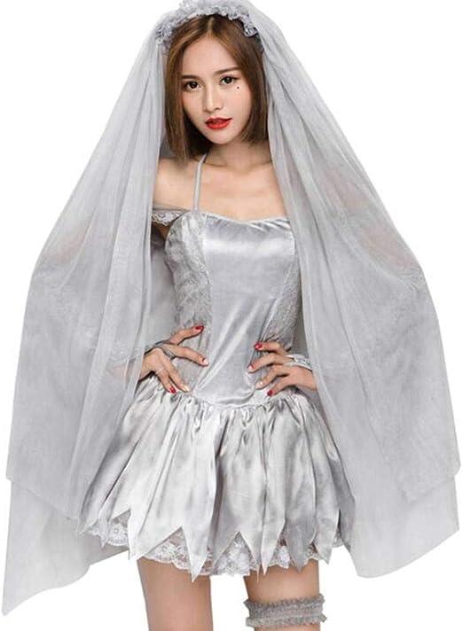 QWE Disfraz de Halloween Fantasma Novia cadáver seco Arte Foto ...