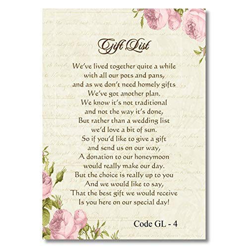 The Invite Factory Personalised Wedding Money Poem Card Honeymoon