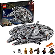 LEGO Star Wars: The Rise of Skywalker Millennium Falcon 75257 Starship Model Building Kit and Minifigures (1,3