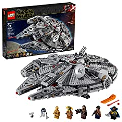 Inspire youngsters and adults with this 75257 LEGO Star Wars Millennium Falcon model set. This brick-built version of this iconic Corellian freighter starship features an array of details, like rotating top and bottom gun turrets, 2 spring-lo...