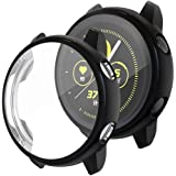 [2Pack] Tensea Compatible with Galaxy Watch Active Case 40mm, Soft TPU Bumper Full Around Screen Protector Cover for…