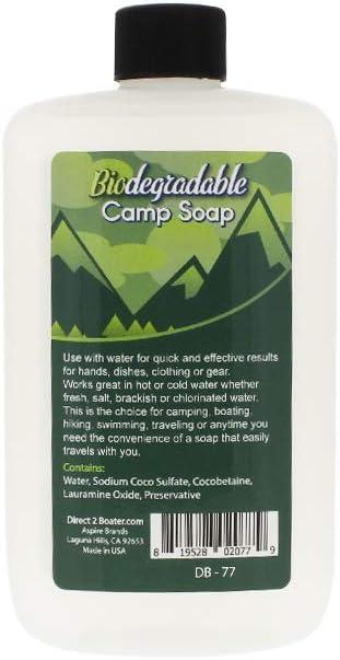 Direct 2 Boater Jabón Biodegradable para Acampada, Agua Dulce y ...