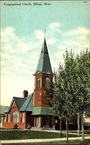 Congregational Church Billings, Montana Original Vintage - Stores Montana Billings