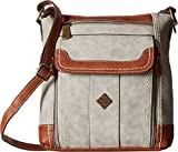 b.o.c. Womens Braefield Walthum Crossbody Dove/Saddle One Size