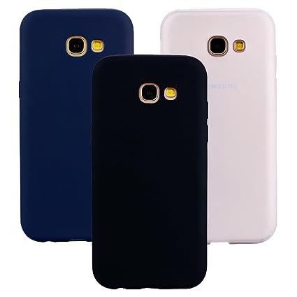 ce58c1c0dad Funda Samsung Galaxy A3 2017, 3Unidades Carcasa Galaxy A3 2017 Silicona  Gel, OUJD Mate