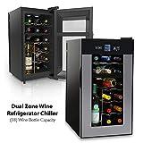 NutriChef PKTEWCDS1802 18 Bottle Dual Zone