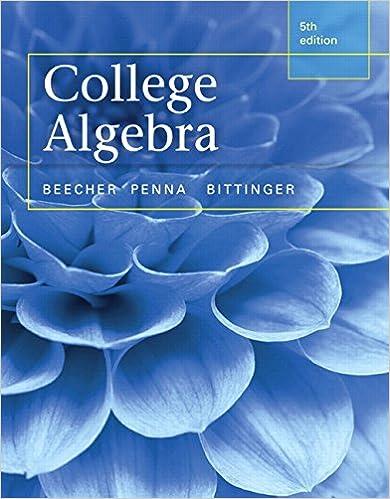 College Algebra 5, Judith A. Beecher, Judith A. Penna, Marvin L ...