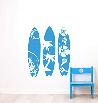 zzlfn3lv Mar Deporte Tatuajes de Pared diseño Tabla de Surf Etiqueta de la Pared Olas Mar