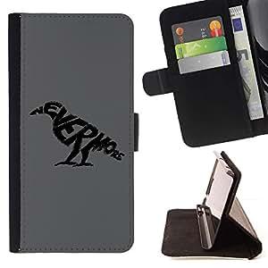 LG Magna / G4C / H525N H522Y H520N H502F H500F (G4 MINI,NOT FOR LG G4)Case , Nunca más cuervo- la tarjeta de Crédito Slots PU Funda de cuero Monedero caso cubierta de piel