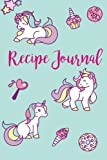 """Recipe Journal: Cute Recipe Journal : 6"""" x 9"""" : 104 pages : Unicorn Journal Cover Design: Volume 3 (Simply Recipe Journal & Blank Cookbook to write in)"""