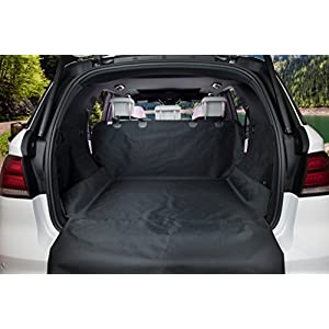 BarksBar Original Pet Cargo Cover & Liner for Dogs - 80 x 52 Black, Waterproof Machine Washable with Bumper Flap Protection- for Cars, Trucks & SUVs 41