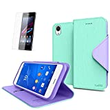 Cellto Sony Xperia Z3 Premium Wallet Case with HD Screen Protector [Dual Magnetic Flap] Diary Cover /w ID Pocket ( Mint ) + Life Time Warranty